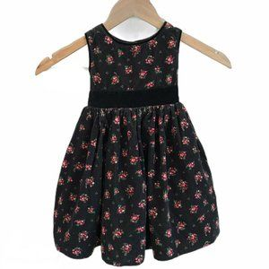Oshkosh Floral Corduroy Dress w Built In Petticoat